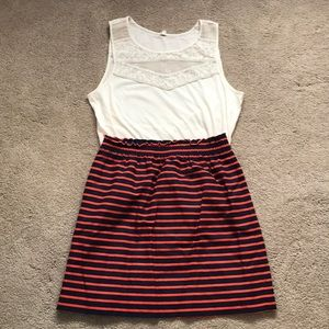 Lot of 2 Jcrew striped skirt and lace tank top